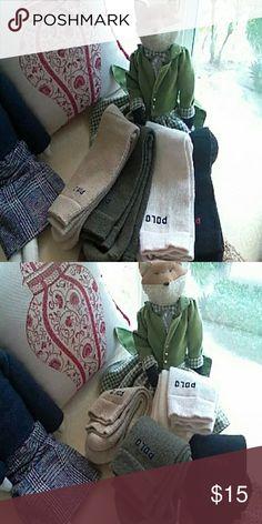 MEN'S POLO SOCKS 4 pair Ralph Lauren Polo Socks - Green,Beige,Olive Green, Cream. New never worn. Without package. Smoke and pet free home. Ralph Lauren Polo Underwear & Socks Dress Socks