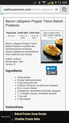2× baked potato
