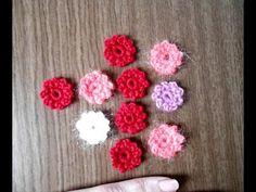 Вязаные цветы малютки крючком видео урок - YouTube