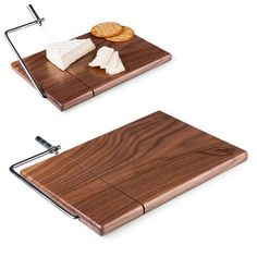 Meridian Cutting Board w/ Slicer (Arizona Cardinals) Laser Engraved - Natural Wood by Picnic Time  Legacy by Picnic Time's Meridian is a rectangular-shaped American black walnut cheese board with a built-in stainless steel cheese wire. Its compact size makes it ideal for display on your hors d'oeuvres table so guests can decide their own serving size and help themselves.