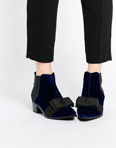 ASOS+ROCK+CITY+Pointed+Velvet+Ankle+Boots