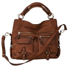 Satchel with Crossbody Strap - Cognac. Saw this at Target and LOVE it! ahh