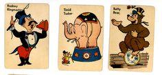vintage old maid cards circus theme Old Circus, Vintage Circus, Circus Peanuts, Vintage Playing Cards, Fabulous Birthday, Circus Theme, Nostalgia, Greeting Cards, Comics