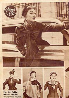 annabella - rivista moda - 14 - 10 - 51 - le farfalle della moda