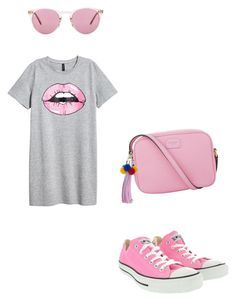 """""""Untitled #424"""" by deamolla ❤ liked on Polyvore featuring Converse, Dolce&Gabbana and Oliver Peoples"""