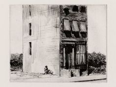 Edward Hopper, The Lonely House (etching), 1923