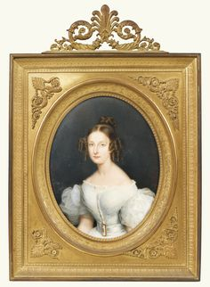 Jean Baptiste Joseph Duchesne PRINCESS MARIE D'ORLÉANS, LATER PRINCESS OF WÜRTTEMBERG (1813-1839) ; WATERCOLOUR AND GOUACHE ON IVORY, ORMOLU FRAME ; SIGNED CENTRE RIGHT: DUCHESNE DE GISORS P.T,, INSCRIBED AND DATED CENTRE LEFT: PARIS 1835.