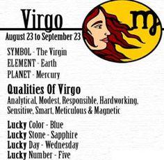 ~ Virgo ~ August 23 to September 23