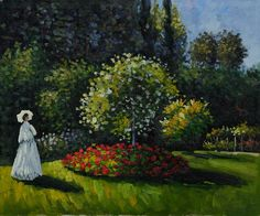 Monet - Jeanne-Marguerite Lecadre (Lady in a Garden)