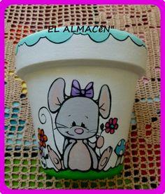 """El arte es, sobre todo, un estado del alma"". Flower Pot Art, Clay Flower Pots, Flower Pot Crafts, Painted Clay Pots, Painted Flower Pots, Painted Jars, Flower Pot People, Clay Pot People, Clay Pot Projects"