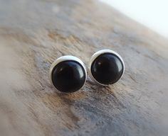 A personal favorite from my Etsy shop https://www.etsy.com/listing/502327653/sterling-silver-onyx-stud-earrings-black