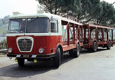 Alfa Romeo Mille Bisarca Bartoletti (1963–1964) car hauler, notice full trailer with trailer steering