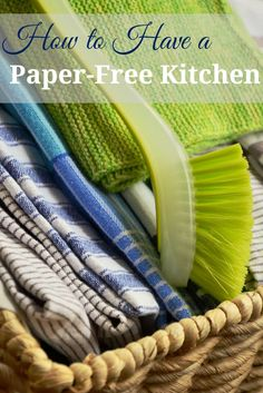 Want to save money and go green? Having a paper-free kitchen isn't as hard as it sounds. We use a lot of paper and it's doing a number on our environment. From deforestation to population from making the paper. It also costs a lot of money over time to disposable products like paper towels and...Read More