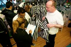 To maintain the evening's sports theme, servers from Main Event Caterers wore referee uniforms.