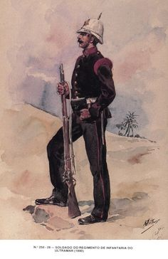 Portugal ; Infantry Regiment of Ultramar, Soldier, 1890