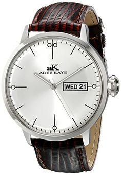 Adee Kaye Men's AK2226-M/SV Vintage Analog Display Japanese Quartz Brown Watch - Jewelry For Her