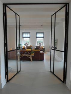 home design dream Steel Doors, Living Spaces, Sweet Home, Kitchen Dining, Loft, House Design, Flooring, Interior, Furniture