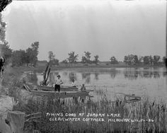 Fishin's Good at Jordan Lake | Photograph | Wisconsin Historical Society
