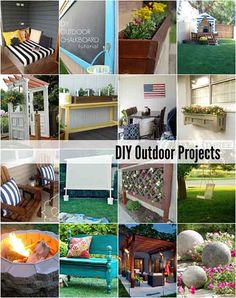 20 DIY Outdoor Projects Micoley's picks for #DIYoutdoorprojects www.Micoley.com