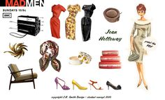 Printable Mad Men Paper Dolls-Joan Holloway by J.R. Smith Design