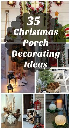 Check out our cool collection of Christmas porch decoration ideas. Your front porch is the first thing people notice when they look at your home. Embrace your visitors with a festive holiday display at your threshold. Let the sights and Noel Christmas, Outdoor Christmas, Country Christmas, Christmas Projects, Winter Christmas, All Things Christmas, Christmas Porch Ideas, Christmas Front Porches, Christmas Pageant