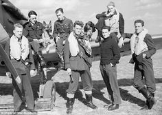 RAF pilots of and squadrons - the average age of an RAF Battle of Britain pilot was just 20 (Photo Source: IWM) Unseen Images, Battle Of Britain, Fighter Pilot, Royal Air Force, Luftwaffe, World History, World War Two, Wwii, Alsatian