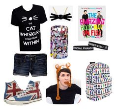 """Dan and Phil tatinof outfit"" by jokers-babe ❤ liked on Polyvore featuring American Eagle Outfitters and Converse"