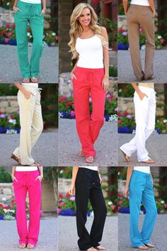 Drawstring Linen Pants with Pockets from Closet Candy Boutique f66d1dbd5fb9