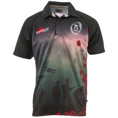 100% polyester Army memorial rugby shirt with 'All Gave Some, Some Gave All' sublimated into the fabric on the back and the Royal British Legion logo on the sleeve.