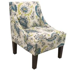 "Skyline Furniture Swoop Fabric Arm Chair & Reviews | Wayfair 23"" x 30""D $350 *Like this one!"