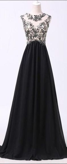 Elegant Long Prom Dress,Black Prom Dresses,Prom Dress,Prom Gowns,Simple Cheap Prom Dresses,Black Lace Long Chiffon Prom Dresses For Teens,Sparkly Modest Evening Dresses,Mother Of The Bridal Dresses