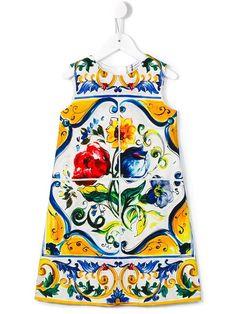 Shoppen Dolce & Gabbana Kids Majolica print shift dress von A Me Mi aus den weltbesten Boutiquen bei farfetch.com/de. In 400 Boutiquen an einer Adresse shoppen.