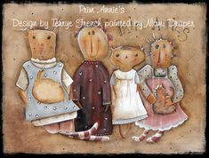 Prim Annie's Painted by Niomi Draper by PaintingWithFriends