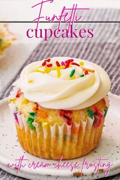 This super delicious Funfetti Cupcakes Recipe is perfect for parties and celebrations! Light and fluffy, so much better than the box mix!