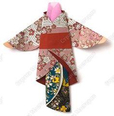 Эта мама из азиатской страны. Она любит одежды с весенними цветами, такими же красивыми, как на распускающихся деревьях. Для яркого кимоно можно взять бумагу пёструю с одной стороны и цветную с ...