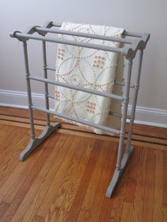 Chalk Paint Quilt Rack by 2BirdsVintage on Etsy, $48.00