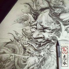 #Repost from @art_motive -  Artwork by artist @zhiyong_tattoo #artinspires #theartisthemotive .