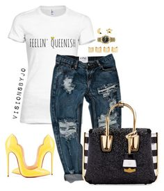 """""""Untitled #1502"""" by visionsbyjo on Polyvore featuring MCM, Christian Louboutin, Luv Aj, Rolex and Erica Weiner"""