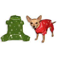 Hip Doggie Snowflake Longjohns for Dogs - PetSmart