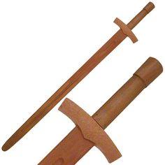 SWORDS.NET - Wooden Medieval Sword, $6.50 (http://swords.net/wooden-medieval-sword/)