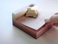 Omoshiroi Block: Paper memo pad that reveals hidden objects - 2