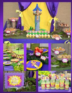 TANGLED Party - COMPLETE Collection-  RAPUNZEL Girls Birthday Party - Tangle- Princess - Krown Kreations & Celebrations on Etsy, $25.00