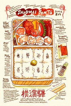 横浜の有名なあそこのシウマイ弁当 : 週間山崎絵日和