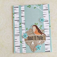 Just A Note Card by Heather Nichols for Papertrey Ink (February 2016)