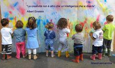 La creatività non è altro che un'intelligenza che si diverte #frasi #einstein