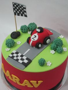 Racing car cake! by CakeCreationsByHuma, via Flickr