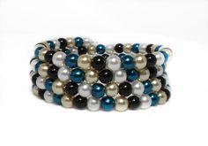 Winter's Eve Memory Wrap Bracelet  Beaded Wrap by HalesBeeHandmade, $16.00