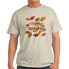 CafePress Big Men's Happy Thanksgiving Light T-Shirt, Size: 2XL, Beige