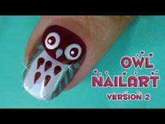 Here is a super cute and easy owl nail art tutorial for you!   This nail design is perfect for wearing in autumn or winter, or for halloween.  I sometimes like to apply it only on one, or two nails per hand, because it´s a great eyecatcher and it is more subtle.  i did another nailart with owls, check it out here:    http://www.youtube.com/watch...