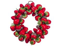 "13"" Chocolate Strawberry Wreath Red Chocolate (Pack of 4) by Silk Decor. $124.79. 13"" Chocolate Strawberry Wreath Red Chocolate. Weight: 34.00 OZ (Pack of 4)Some assembly may be required. Please see product details. Some assembly may be required. Please see product details."